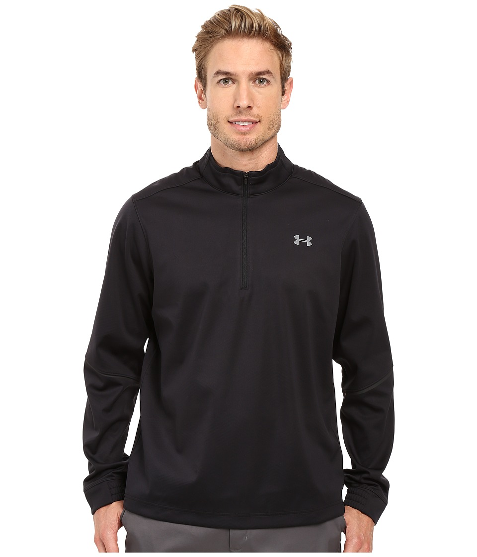 Under Armour Golf - Elements 1/2 Zip (Black/Black/Graphite) Men's Clothing