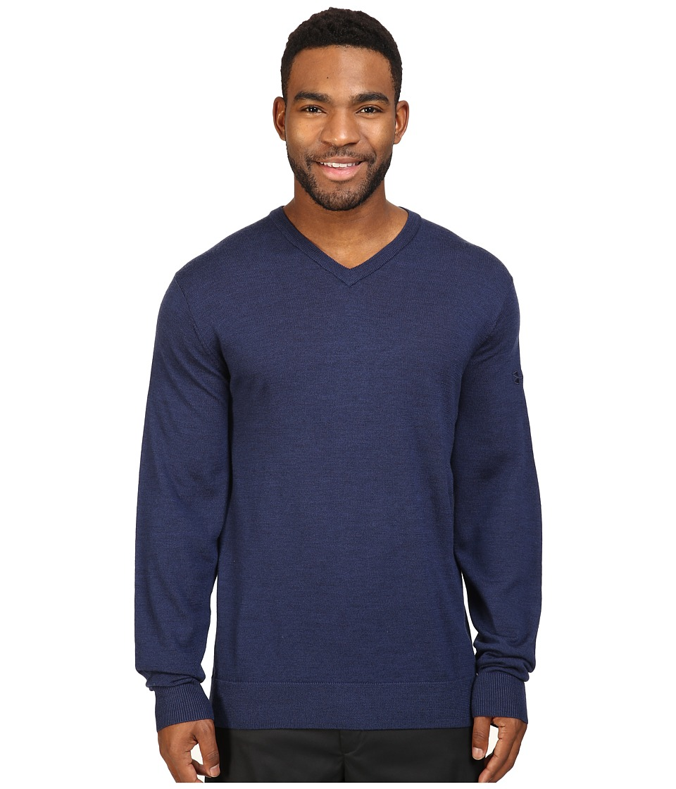 Under Armour Golf Tips V-Neck Sweater (Academy/Cadet) Men