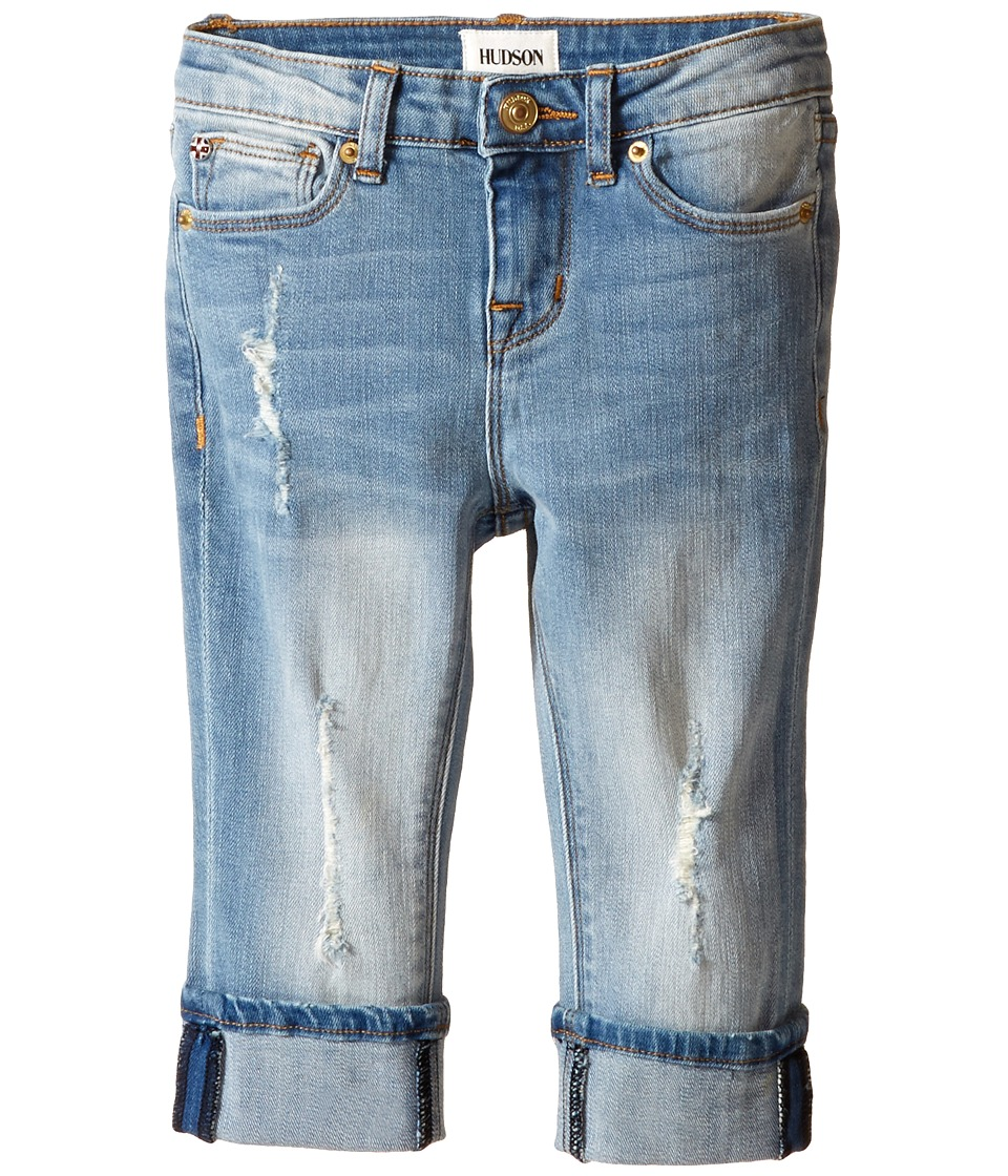 Hudson Kids - Ginny Crop Jeans in Blasted Blue (Toddler/Little Kids) (Blasted Blue) Girl's Jeans