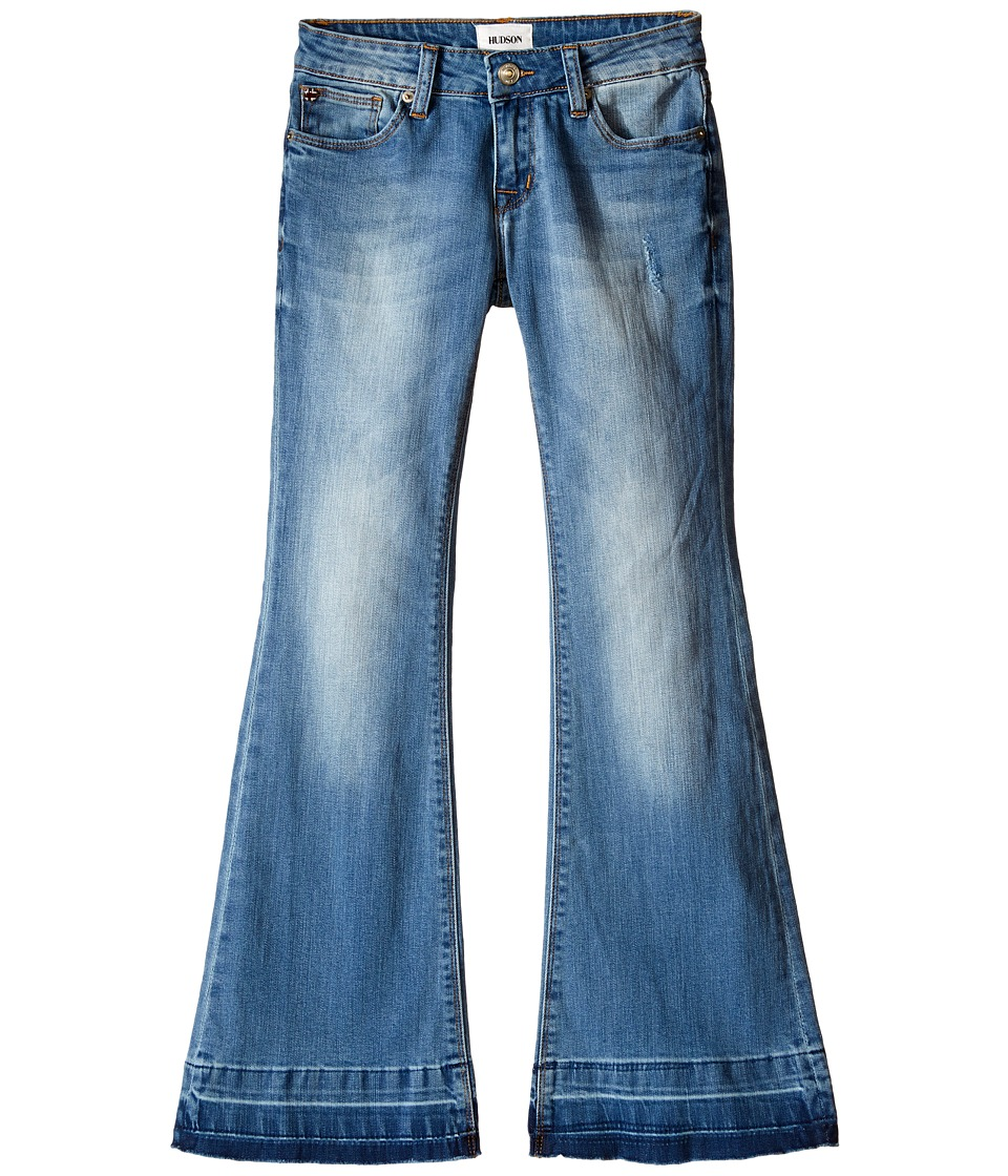 Hudson Kids - Janis Flare Jeans in Blue Steel (Big Kids) (Blue Steel) Girl's Jeans
