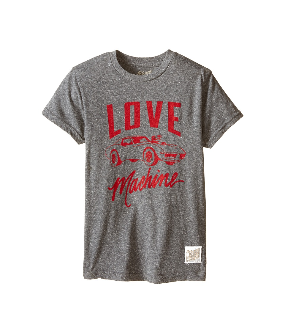The Original Retro Brand Kids - Tri-Blend Love Machine Short Sleeve Tee (Big Kids) (Streaky Grey) Boy
