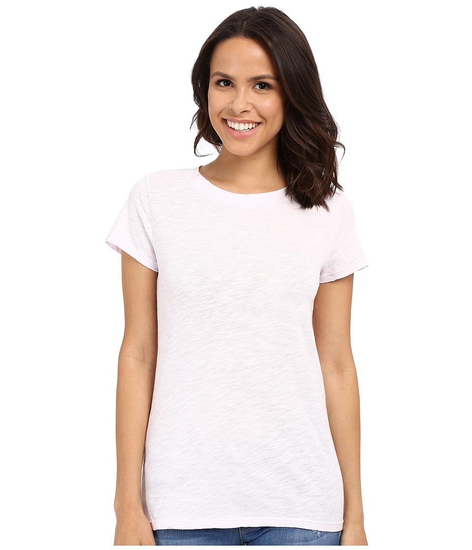 Dylan by True Grit - Soft Slub Short Sleeve Crew Tee (Pretty Pink) Women's T Shirt