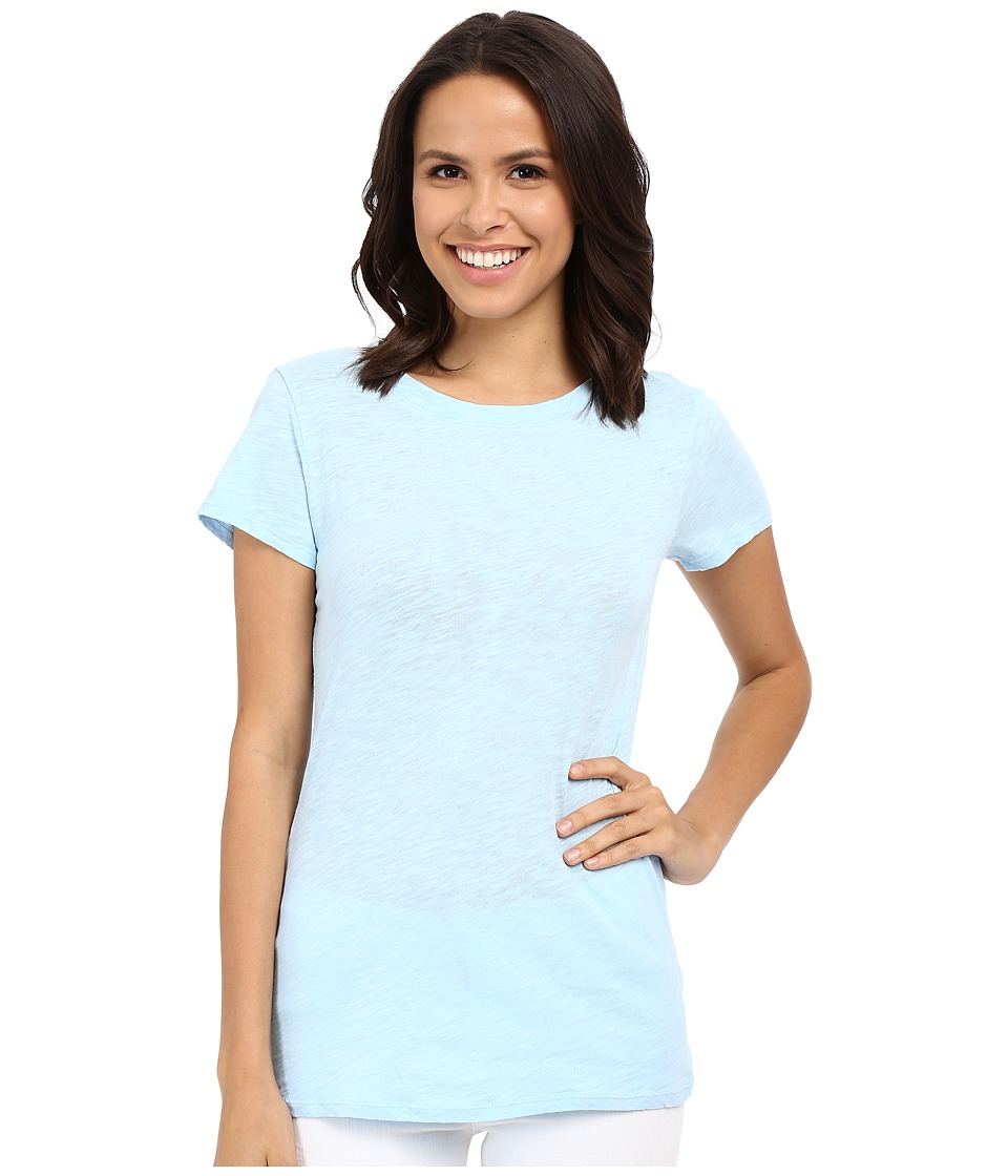 Dylan by True Grit - Soft Slub Short Sleeve Crew Tee (Blue) Women's T Shirt