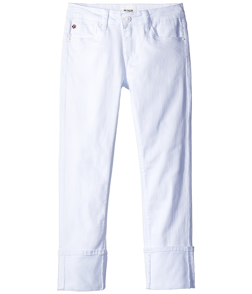 Hudson Kids - Ginny Crop Jeans in White (Big Kids) (White) Girl's Jeans