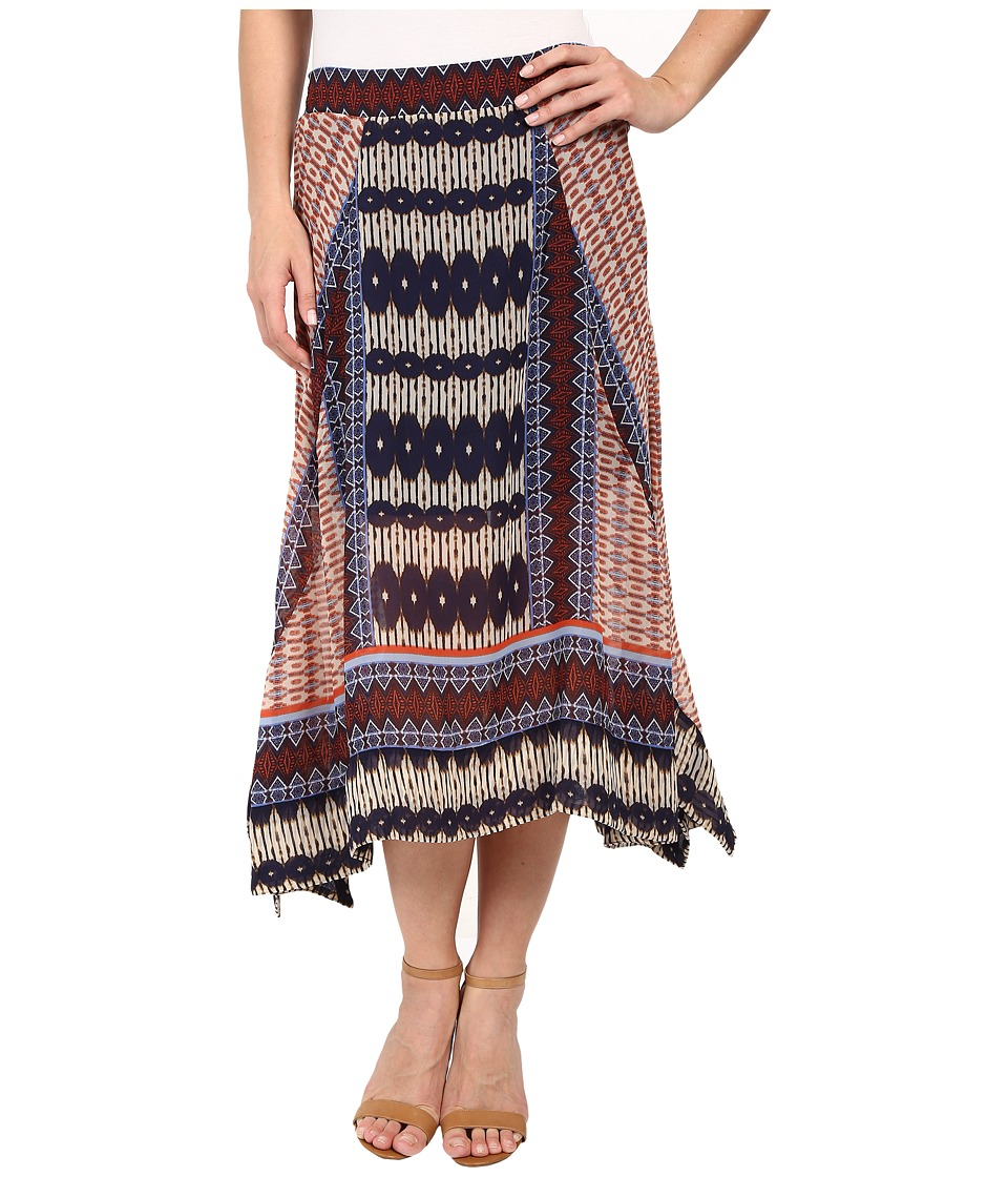 Dylan by True Grit Malta Boho Skirt (Multi Natural/Denim) Women