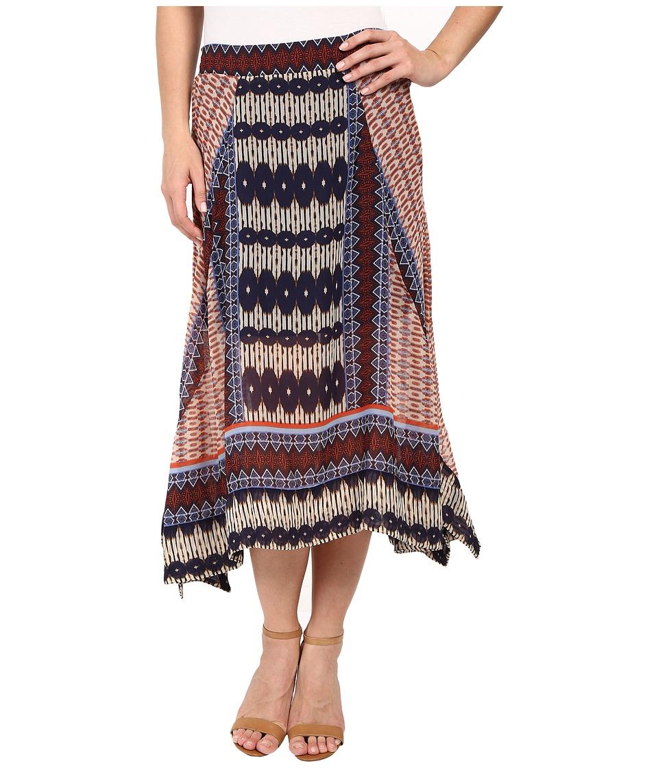 Dylan by True Grit - Malta Boho Skirt (Multi Natural/Denim) Women's Skirt