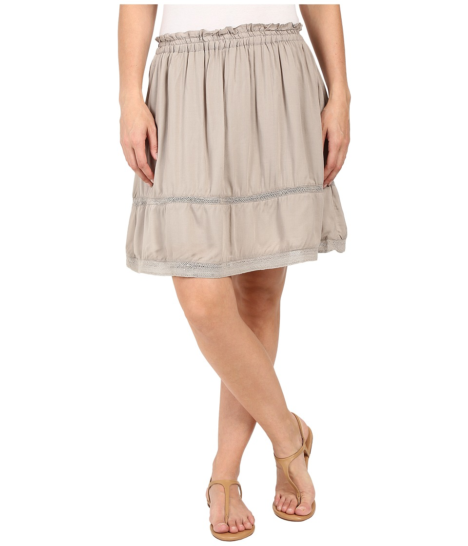 Dylan by True Grit Dream Cotton at Ease Pocket Skirt (Soft Olive) Women