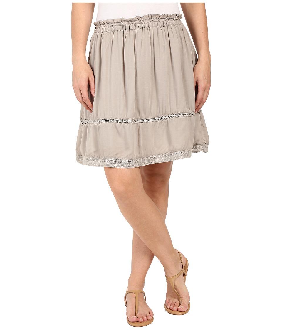 Dylan by True Grit Dream Cotton at Ease Pocket Skirt (Soft Olive) Women