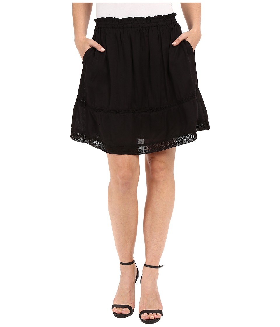 Dylan by True Grit - Dream Cotton at Ease Pocket Skirt (Vintage Black) Women's Skirt