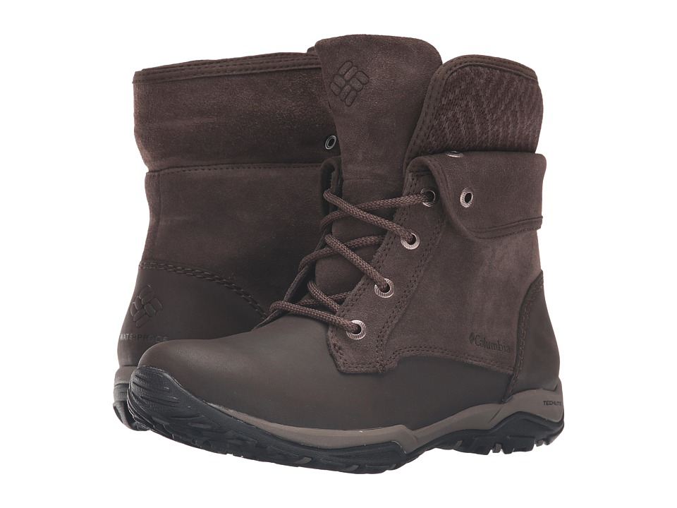 Columbia - Cityside Fold Waterproof (Cordovan/Mud) Women's Waterproof Boots