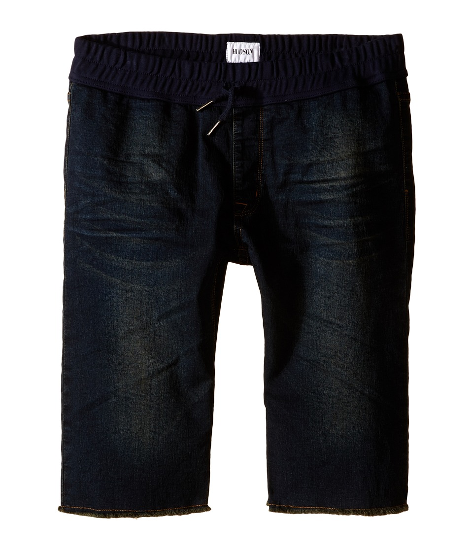 Hudson Kids - Knit Denim Shorts in Garage Wash Blue (Big Kids) (Garage Wash Blue) Boy's Shorts