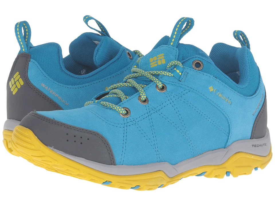 Columbia - Fire Venture Low Waterproof (Oxide Blue/Ginkgo) Women's Waterproof Boots