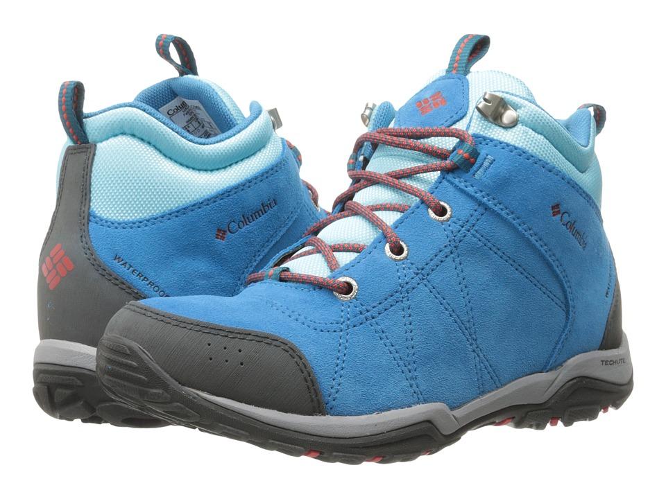Columbia - Fire Venture Mid Waterproof (Oxide Blue/Spicy) Women's Waterproof Boots