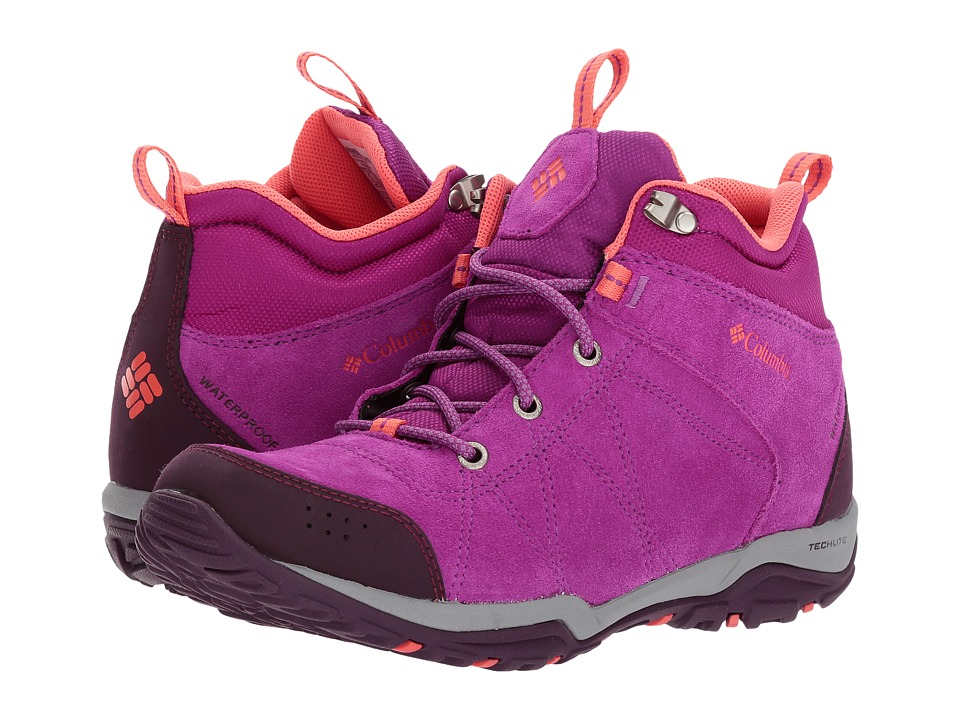 Columbia - Fire Venture Mid Waterproof (Intense Violet/Melonade) Women's Waterproof Boots