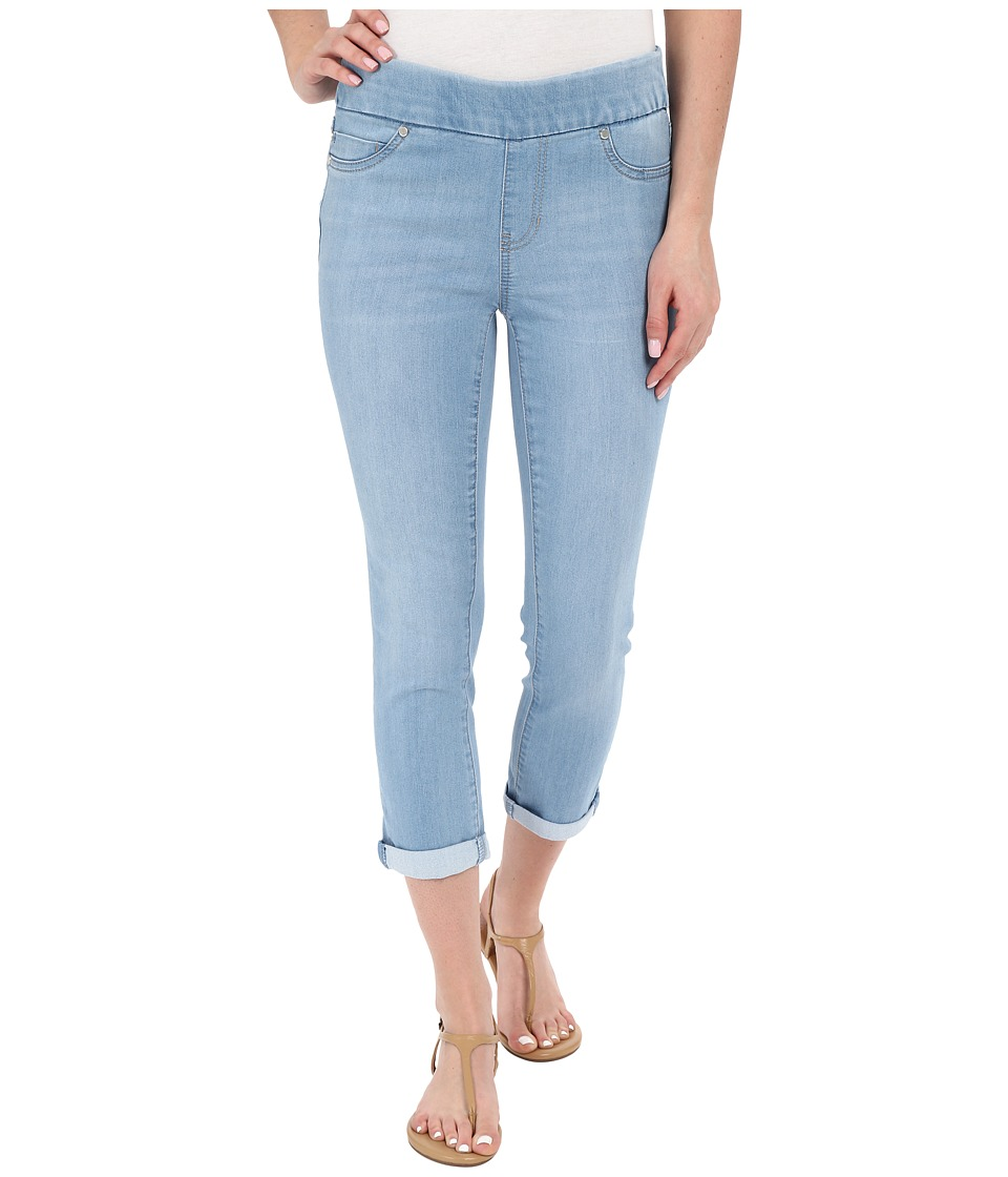 Liverpool - Sienna Pull-On Silky Soft Denim Capris in Delton Light Blue (Delton Light Blue) Women's Jeans