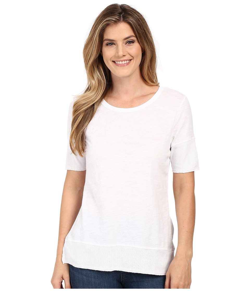 Dylan by True Grit - Soft Slub Short Sleeve Tee w/ Whispy Soft Rib Trim (Perfect White) Women's T Shirt