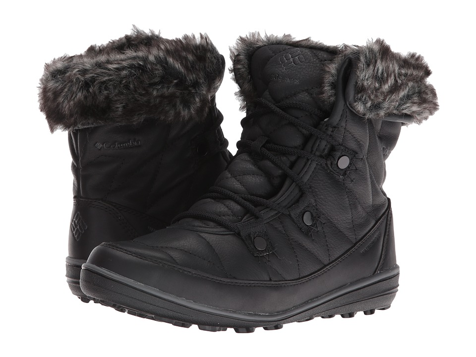 Columbia Heavenly Shorty Omni-Heat Leather After Dark (Black/Dark Fog) Women