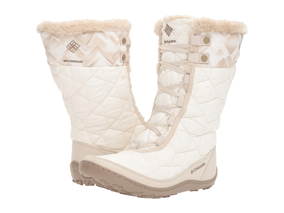 Columbia - Minx Mid II Omni-Heat Print (Sea Salt/Oxford Tan) Women's Cold Weather Boots