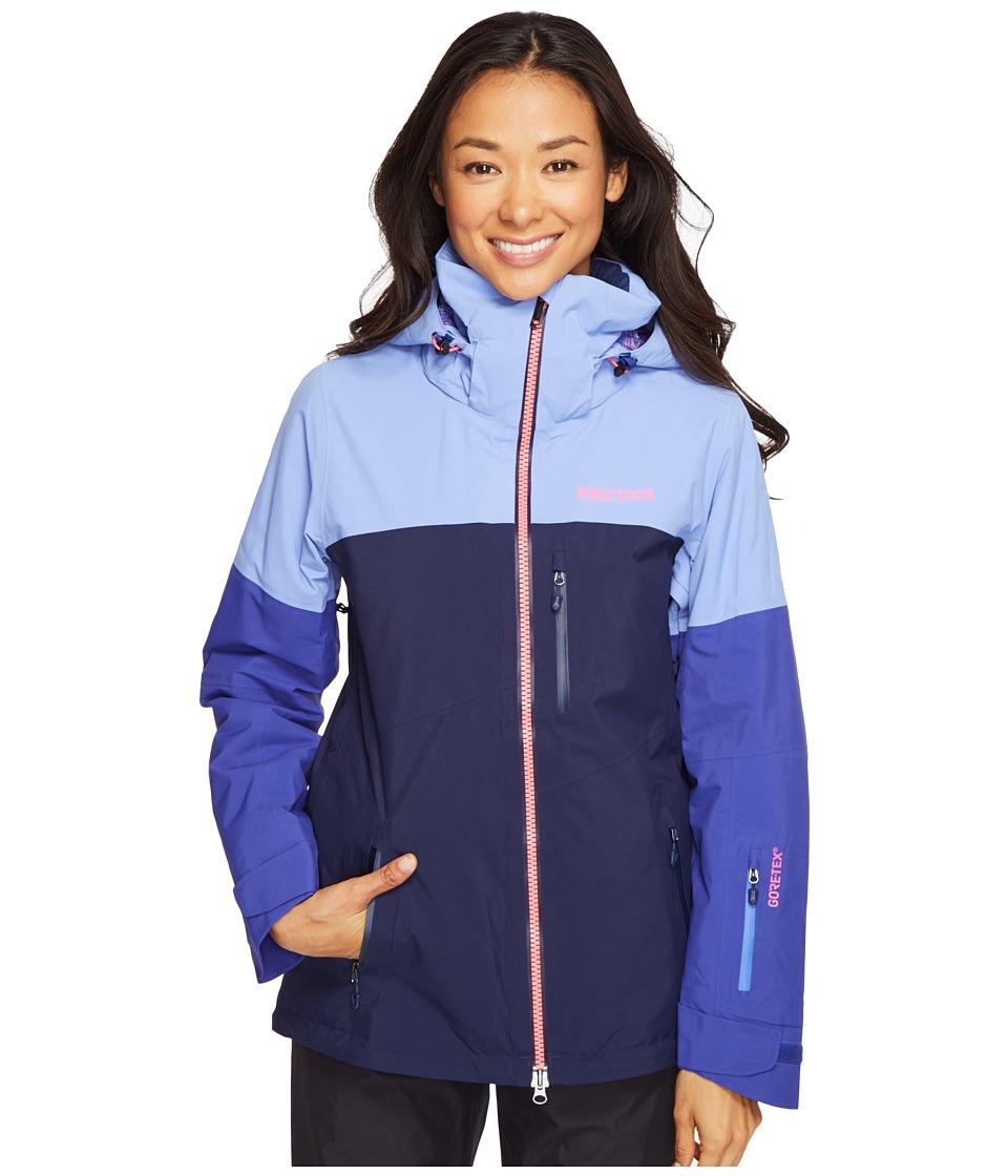 Marmot - Jumpturn Jacket (Dewdrop/Royal Night) Women's Coat