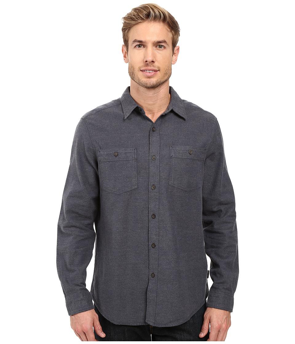 Royal Robbins - Bristol Tweed Long Sleeve Shirt (Navy) Men's Long Sleeve Button Up