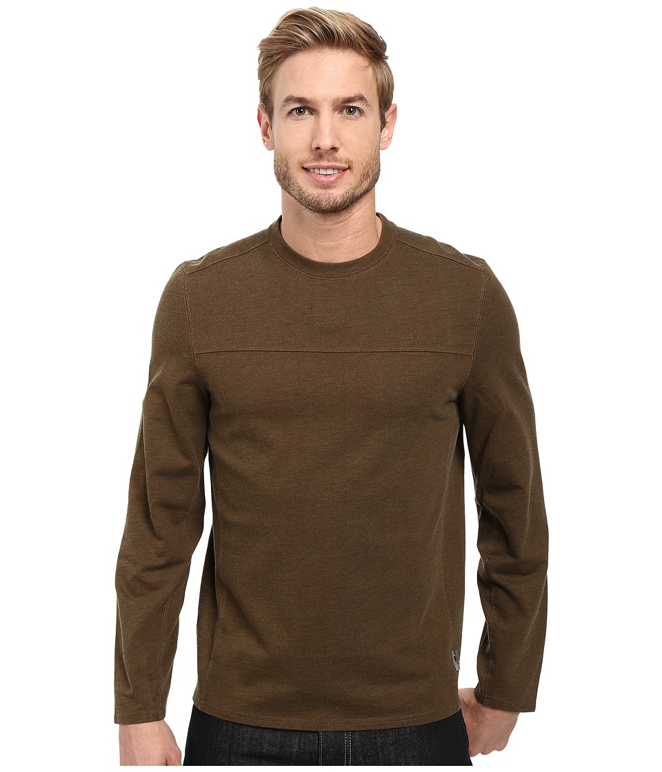 Royal Robbins Pigment Terry Long Sleeve Crew (Desert Palm) Men