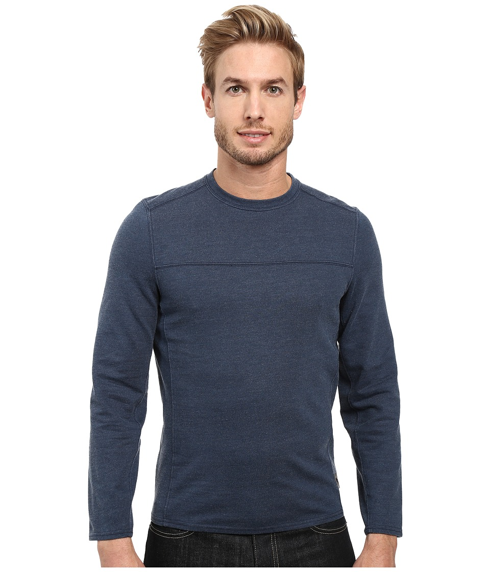 Royal Robbins Pigment Terry Long Sleeve Crew (Navy) Men