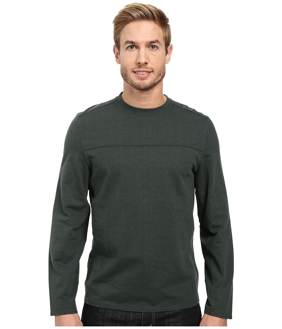 Royal Robbins Pigment Terry Long Sleeve Crew (Green Gables) Men