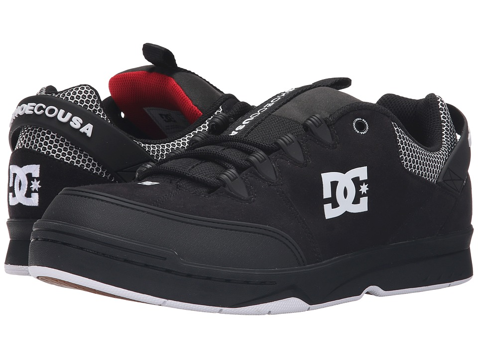 DC - Syntax SN (Black/White/Red) Men's Skate Shoes
