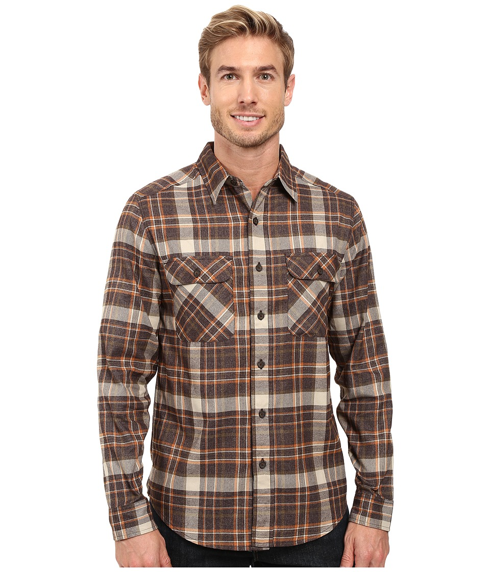 Royal Robbins - Performance Flannel Plaid Long Sleeve Shirt (Desert Palm) Men's Long Sleeve Button Up
