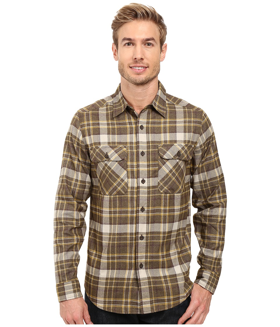 Royal Robbins - Performance Flannel Plaid Long Sleeve Shirt (Cypress) Men's Long Sleeve Button Up