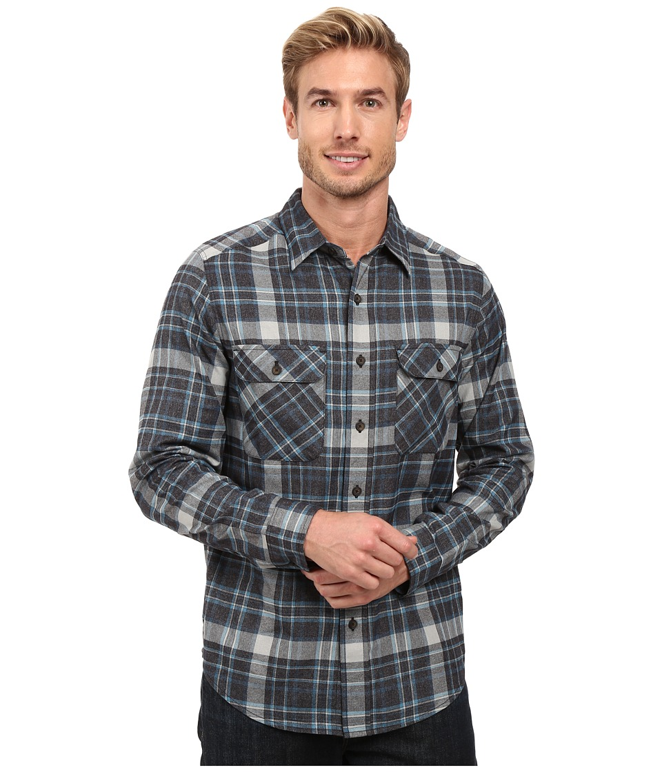 Royal Robbins - Performance Flannel Plaid Long Sleeve Shirt (Phoenix Blue) Men's Long Sleeve Button Up