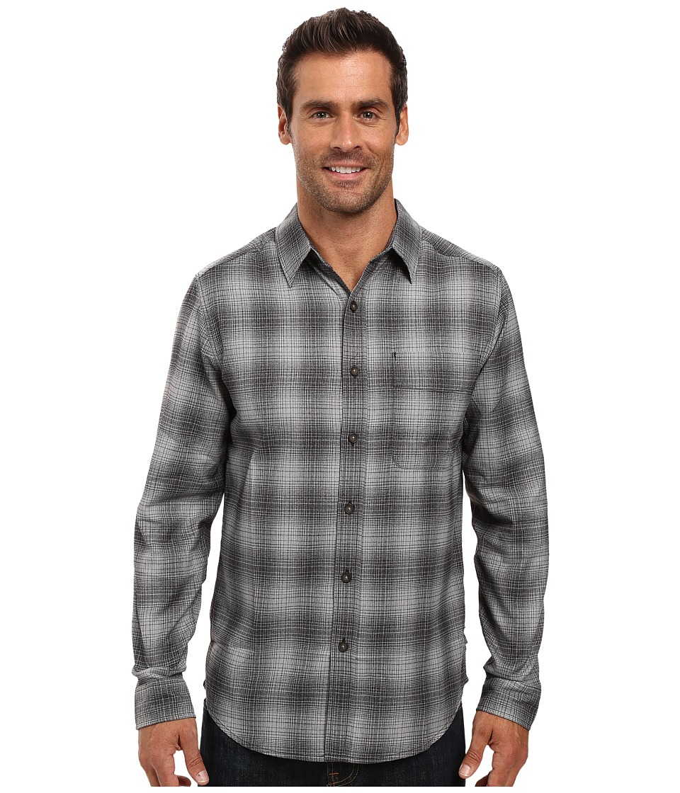 Royal Robbins - Performance Flannel Ombre Long Sleeve Shirt (Charcoal) Men's Clothing