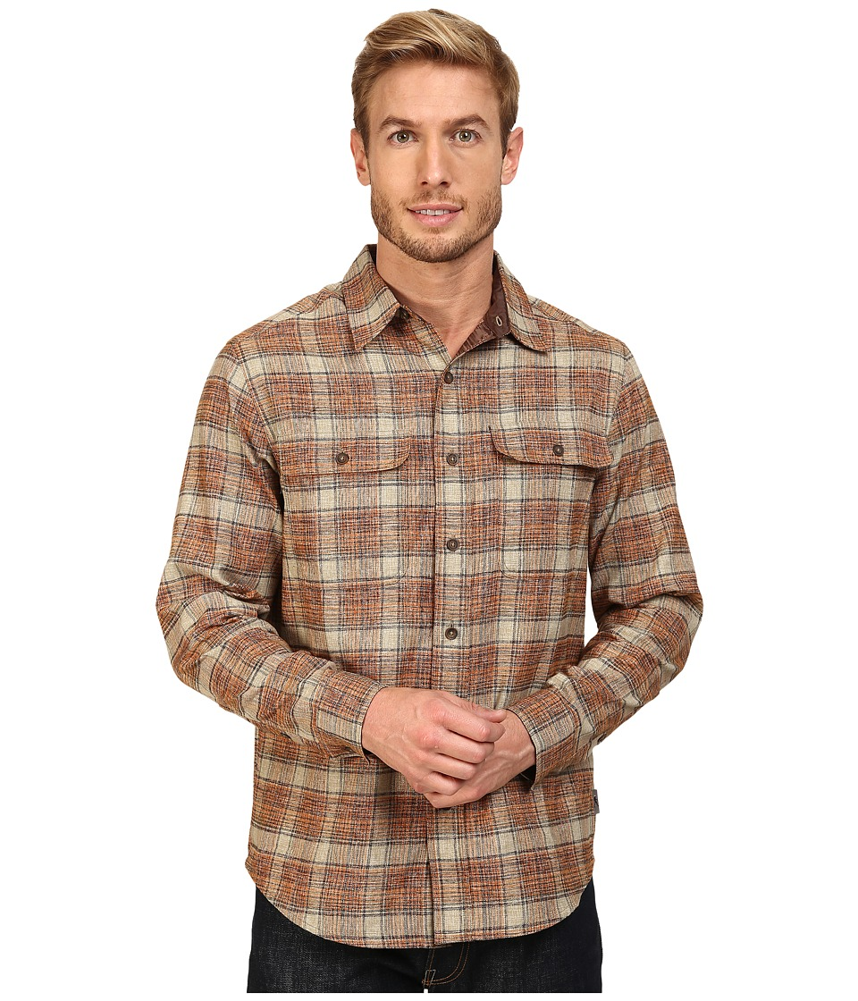 Royal Robbins - Performance Flannel Long Sleeve Overshirt (Fox) Men's Long Sleeve Button Up
