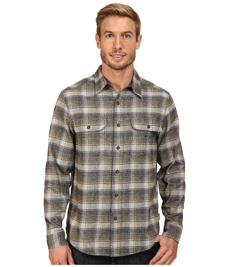 Royal Robbins - Performance Flannel Long Sleeve Overshirt (Blue Stone) Men's Long Sleeve Button Up