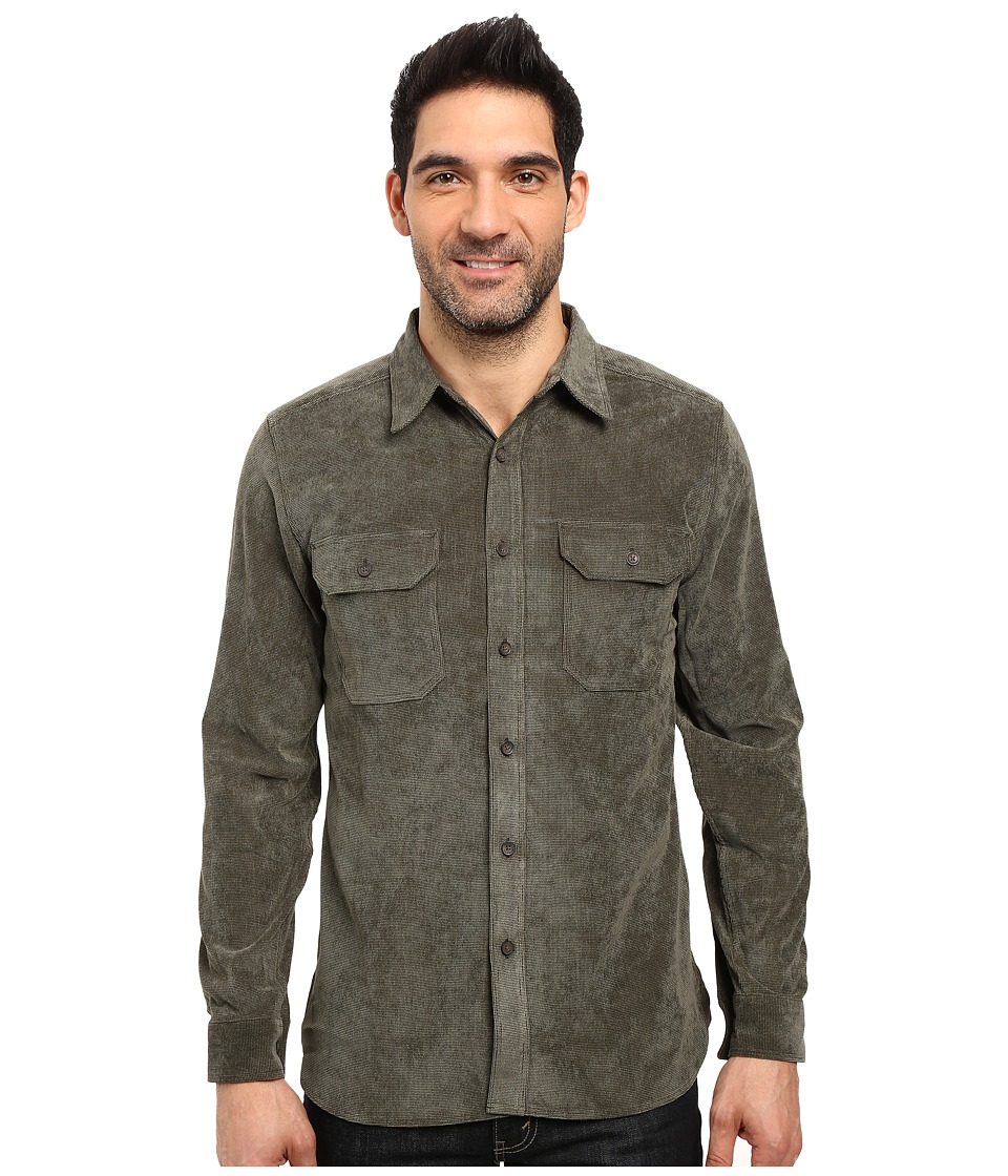 Royal Robbins - Grid Cord Long Sleeve Shirt (Loden) Men's Long Sleeve Button Up