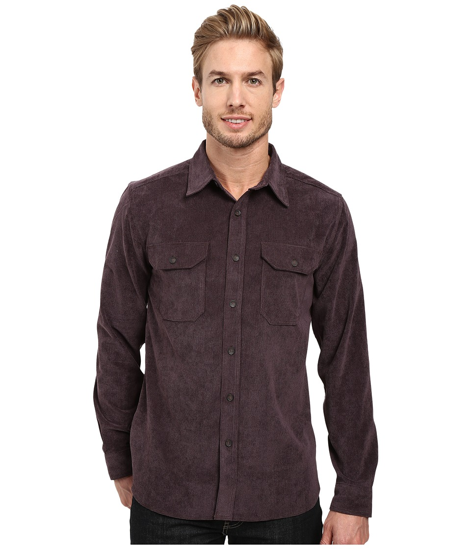 Royal Robbins - Grid Cord Long Sleeve Shirt (Plum Perfect) Men's Long Sleeve Button Up