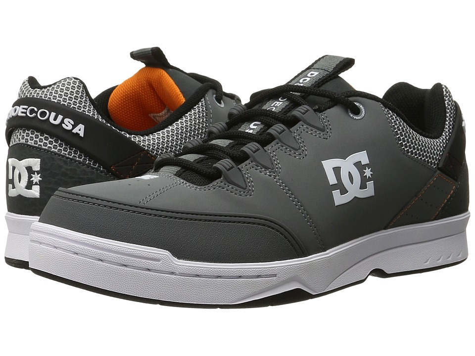 DC - Syntax (Grey/Grey/Orange) Men's Skate Shoes