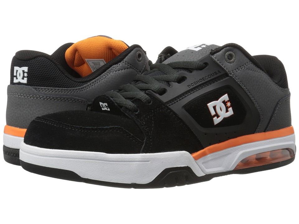 DC - Rival (Grey/Grey/Orange) Men's Skate Shoes