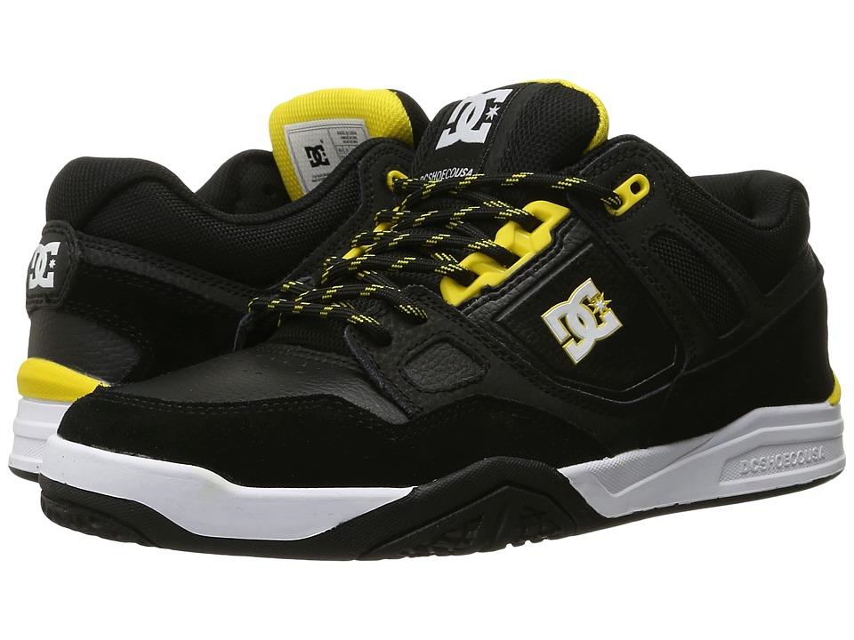 DC - Stag 2 (Black/Yellow) Men's Skate Shoes