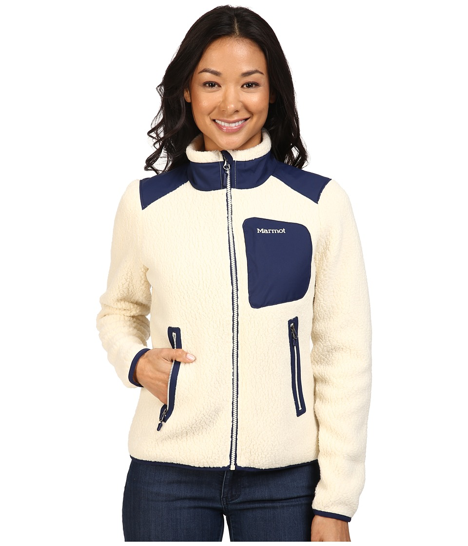 Marmot - Wiley Jacket (Cream/Arctic Navy) Women's Coat