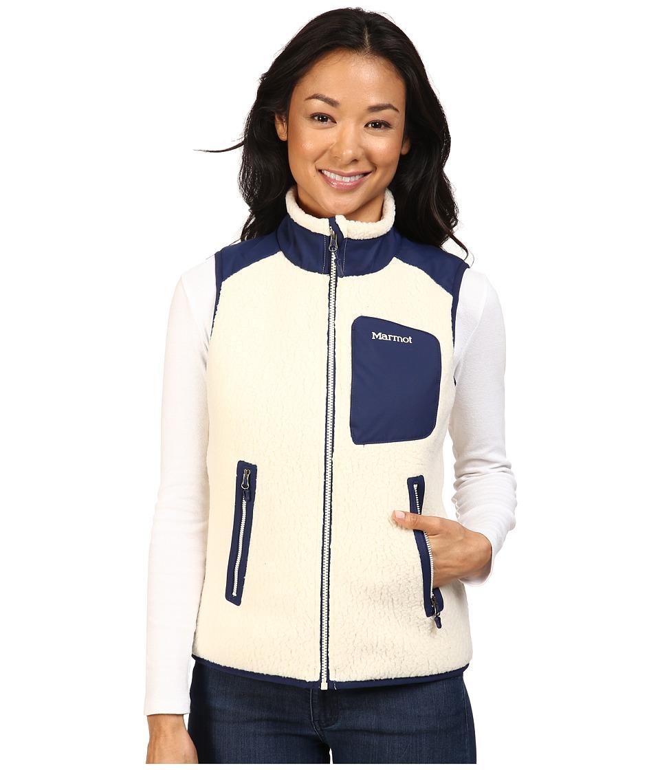 Marmot - Wiley Vest (Cream/Arctic Navy) Women's Vest
