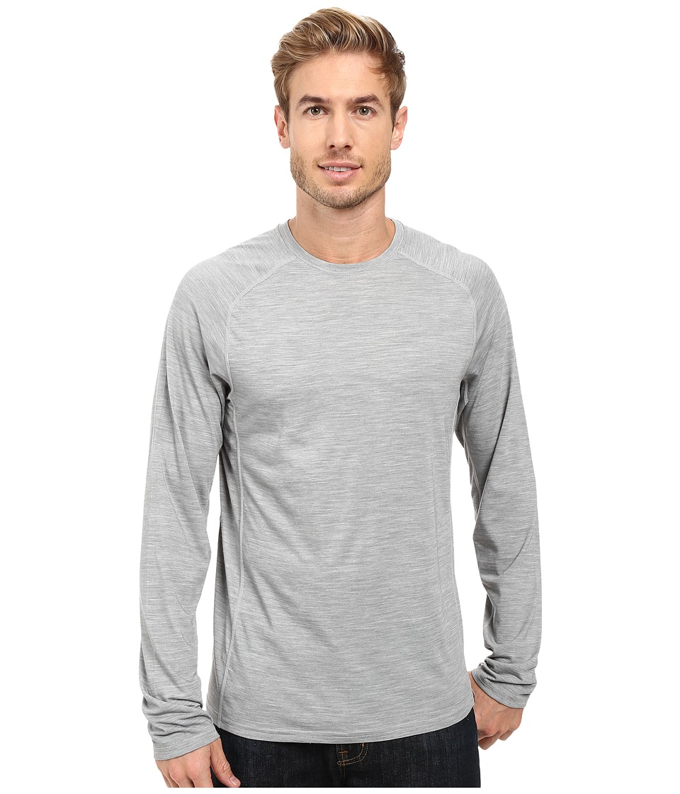 Royal Robbins Go Everywhere(r) Long Sleeve Merino Crew (Light Pewter) Men