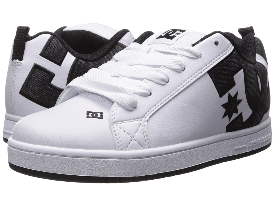 DC - Court Graffik SE (White/Grey/Black) Men's Skate Shoes