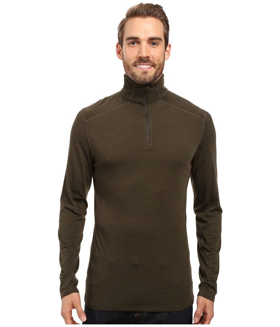 Royal Robbins - Go Everywhere 1/4 Zip Shirt (Dark Olive) Men's Long Sleeve Pullover
