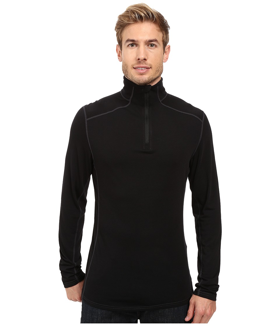Royal Robbins - Go Everywhere 1/4 Zip Shirt (Jet Black) Men's Long Sleeve Pullover
