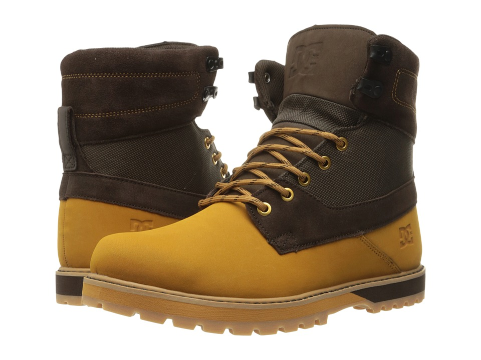 DC - Uncas (Wheat/Dark Chocolate) Men's Lace-up Boots