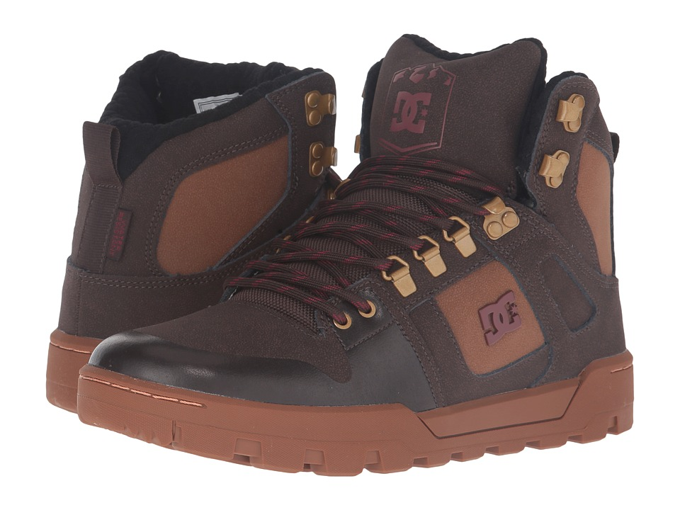 DC - Spartan High WR Boot (Brown/Brown/Red) Men's Boots