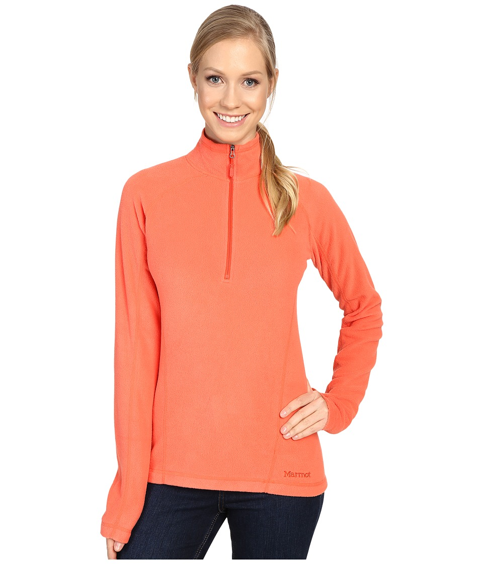 Marmot - Rocklin 1/2 Zip (Living Coral) Women's Clothing