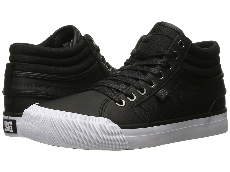DC - Evan Hi (Black/Black/White) Women's Skate Shoes