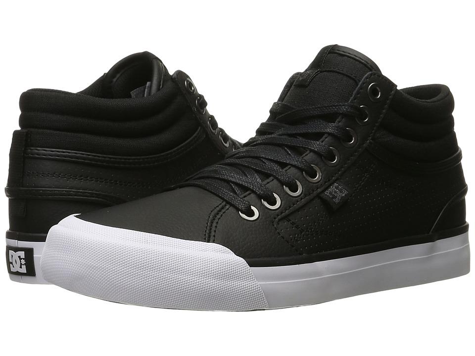 DC - Evan Hi (Black/Black/White) Women's Skate Shoes
